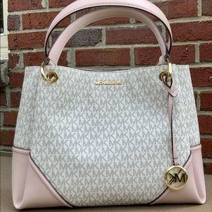 Michael kors signature Nicole large satchel bag